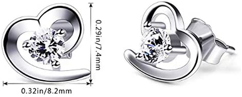 Hypoallerg/éniques Argent Sterling 925 et Zircones Cubiques 5A Bijoux Romantique avec Bo/îte Cadeau /él/égante JinSu Boucles doreilles pour Femmes