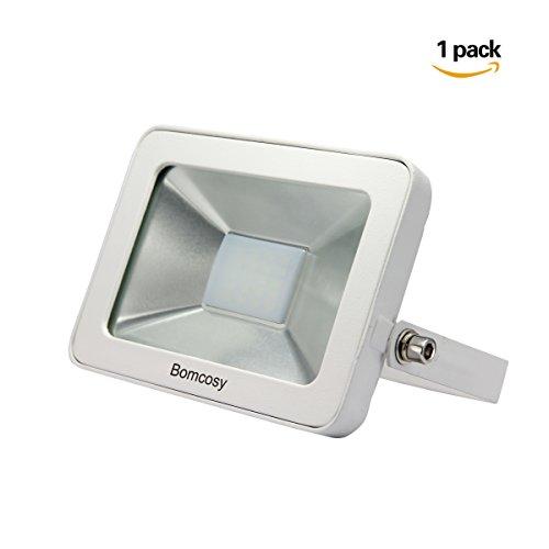 Bomcosy 10W Super Slim IP65 Waterproof LED Flood Light,Warm White (130v Night Light Bulb)