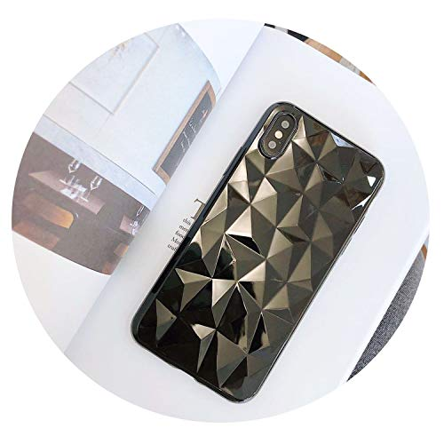 Fashion Solid Color Bling Diamond Cases for iPhone 6Plus 6Splus 7Plus 8Plus for iPhone 6 S 6S 7 7S 8 Plus X 10 5 5S 5Se Cell Phone,Black,for iPhone 5 5S Se (Gold Madam Solid)