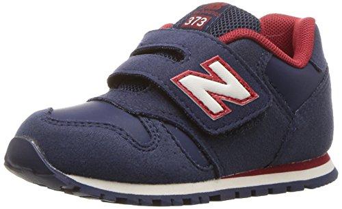 New Balance Boys' KV373 Hook and Loop Sneaker, Navy/Red, 5 Medium US Infant