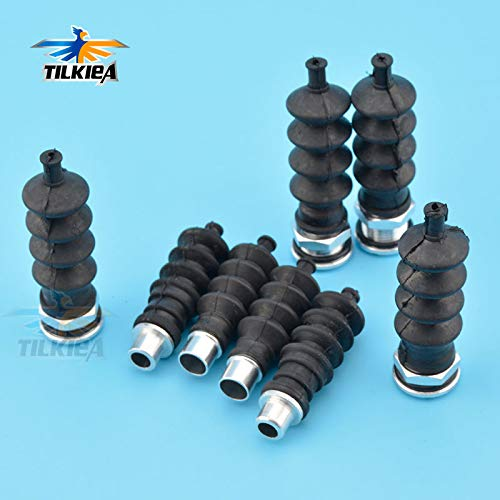 Isali RC Boat 3 Aluminium Fittings and Rubber Bellows Radio Box Seals Ideal for Servo Push Rod Seal to Rudder Parts - (Color: Big Fittings) ()