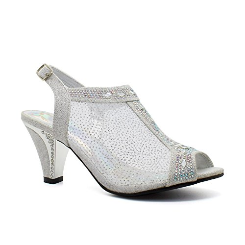 Bride Footwear London silver cheville femme de S8wqUxP