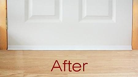 Bottom of The Door Draught Excluder - White 90cm / 36u0026quot; Self adjusting easy  sc 1 st  Amazon UK & Bottom of The Door Draught Excluder - White 90cm / 36