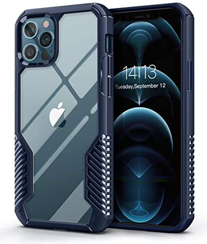 MOBOSI Vanguard Armor Compatible with iPhone 12 Pro Max Case, Rugged Cell Phone Cases, Heavy Duty Military Grade Shockproof Drop Protection Cover 6.7 inch 2020 (Navy Blue)
