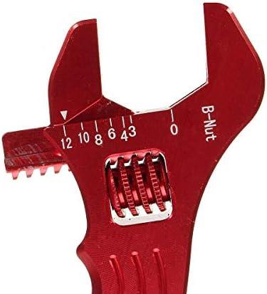 ペンチ 作業用 プライヤーハンドツール、調節可能なアルミレンチのフィッティングツールスパナ3色 ニッパー 精密 小型 軽量タイプ (Color : Red)