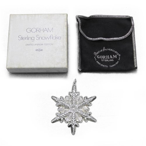 (1972 Snowflake Sterling Ornament by Gorham)