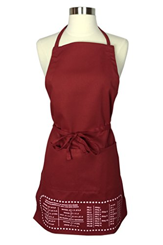 The Smart Baker Cheat Sheet Baking Apron with Measurement...