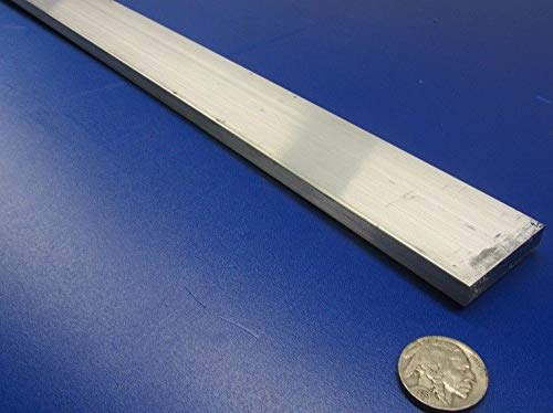 JumpingBolt 6061 T651 Aluminum Bar, 5/16'' (.312'') Thick x 1 1/2'' Wide x 36'' Length Material May Have Surface Scratches