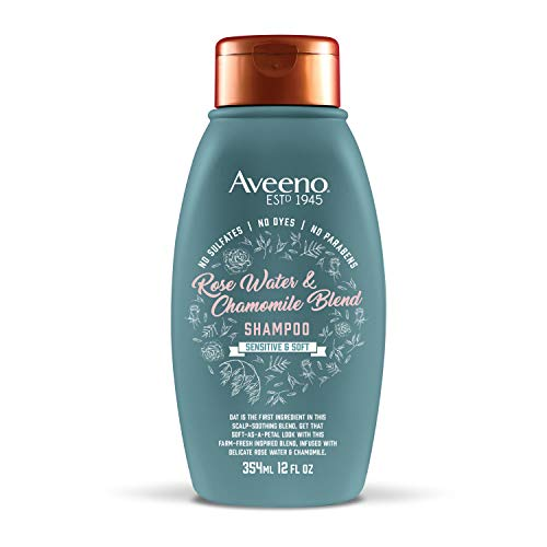 Aveeno Scalp Soothing Rose Water & Chamomile Blend Shampoo, 12 Ounce