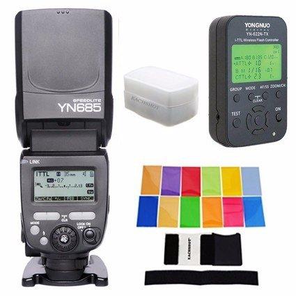 Yongnuo TTL Speedlite yn685 ( yn-568exアップグレードバージョン)622 N / 603デュアルワイヤレスシステムWorks with yn622 N rf603ワイヤレスフラッシュfor Nikon DSLR + yn622 N-tx + EACHSHOT フィルタ+ディフューザー