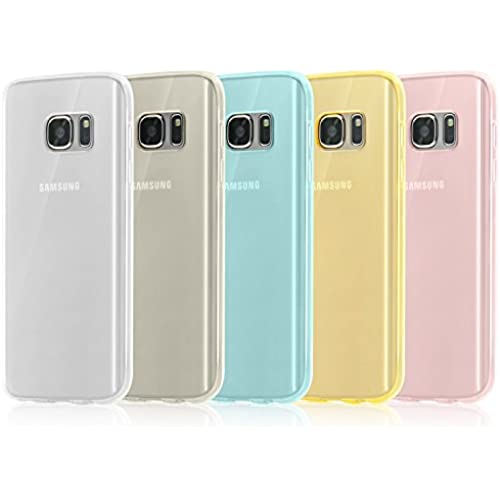 Galaxy S7 Case, Whole sale 5 Pack Ultra-Thin Premium Transparent Clear Bumper TPU Case Cover for Samsung Galaxy S7 (2016)-(Teal,Clear,Black,Yellow,Pink) Sales