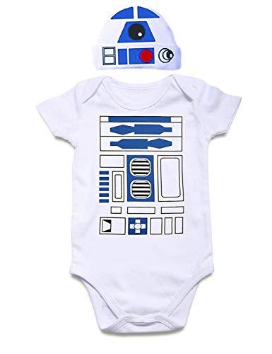 Cutemefy Unisex Baby Rompers Short Sleeve Cottom O-Neck 0-24M Novel Newborn Boys&Girls Baby Clothes with Hat
