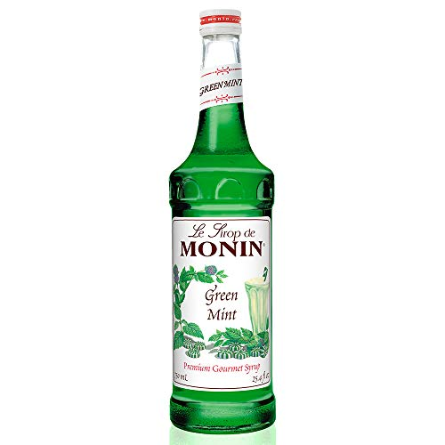 Monin - Green Mint Syrup, Bold Peppermint Coolness, Natural Flavors, Great for Smoothies, Sodas, Cocktails, and Teas, Vegan, Non-GMO, Gluten-Free (750 -