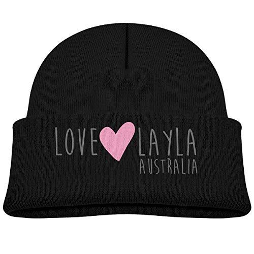 Baby Beanie Knit Hat Love Layla Australia Cute Warm Cotton Soft Cap Black