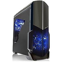 SkyTech Shadow GTX 1050 Gaming Computer Desktop PC FX-4300 3.80 GHz Quad Core, GTX 1050 2GB, 8GB DDR3, 1TB HDD, 24X DVD, Wi-Fi USB, Windows 10 Pro 64-bit (GTX 1050 | FX-4300)