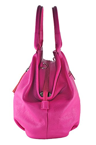 Pelle BORDERLINE in Made Italy Donna 100 Vera GIADA Borsa Fucsia da in rrpAzx