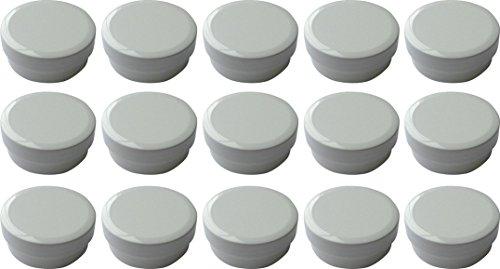 15 Salbendöschen, Cremedöschen, Salbenkruke flach, 12ml Inhalt - MADE IN GERMANY