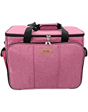 HANDY Sewing Machine Carrying Bag with Multiple Storage Pockets, Universal Travel Bag - GJ51177 (PINK)