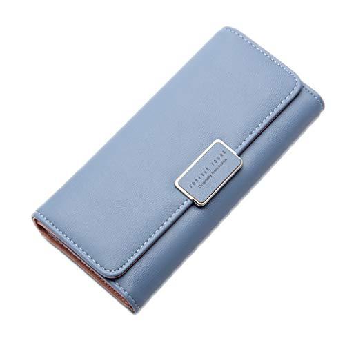 (Women Purse Long Wallet Zipper Clutch Bag Women's Coin Purses Blue)