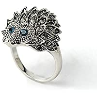 Animal Design Punk Chic Wedding Party Hedgehog Rings Jewelry Silver Plated LOVE STORY nogluck