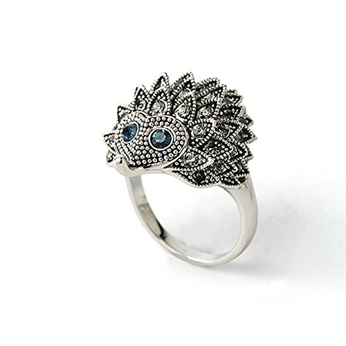 - Animal Design Punk Chic Wedding Party Hedgehog Rings Jewelry Silver Plated LOVE STORY nogluck