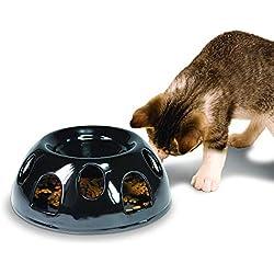 Pioneer Pet Tiger Diner Ceramic Food Dish/Bowl, Black (Renewed)