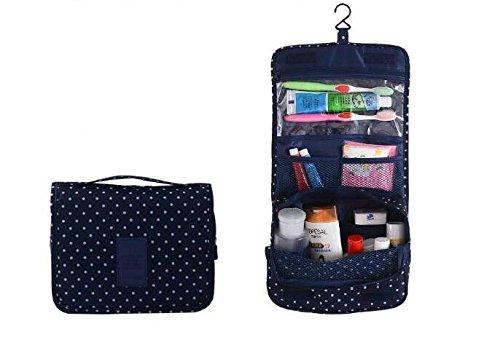 UPC 745750970400, BB&Love Portable Hanging Waterproof Travel Organizer Toiletry Wash Cosmetic Bag Makeup Storage Case Grooming Storage Bags (Dark Blue(Dot))