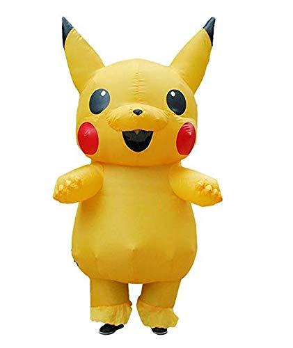 US Ship Adult Mascot Pikachu Inflatable Costume Cosplay Halloween Funny -