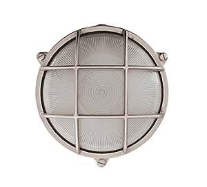 NB lighting-applique, Plafonier en latón redonda acabado níquel, Rondo Art 10A, Diffuser en vidrio satinado, casquillo de porcelana E27max.60W 19,5x 9,3cm