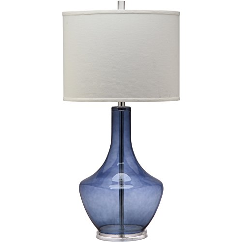 - Safavieh Lighting Collection Mercury Light Blue 33-inch Table Lamp