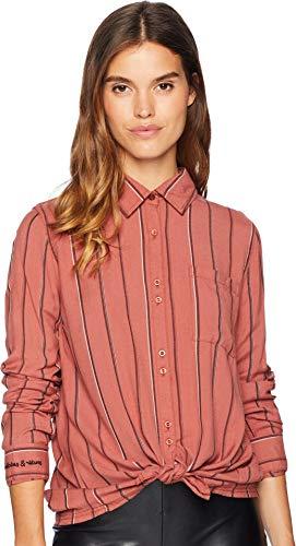 (Roxy Junior's Concrete Streets Shirt, WHITERED Rose Poetic Stripe vex, XL)