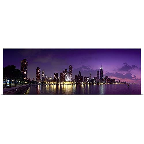 GREATBIGCANVAS Poster Print Entitled Buildings at The Waterfront, Hancock Building, Lake Michigan, Chicago, Cook County, Illinois, by 60
