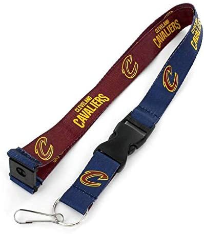 Logo Lapel Pin aminco NBA Cleveland Cavaliers Team Reversable Lanyard and Metal Keychain Gift Bundle