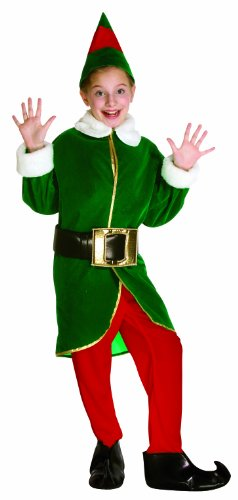 Rasta Imposta Green and Red Elf Children's Costume, 7-10, Green and Red -