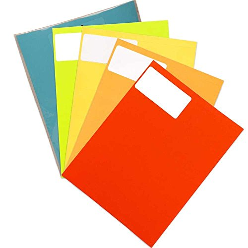 JAM PAPER Shipping Address Labels - Standard Mailing - 2 x 4 - Assorted Bright Colors - 600/Pack