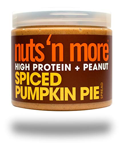 Nuts 'N More Spiced Pumpkin Pie Peanut Spread, High Protein, Great Tasting, All Natural Sports Nutrition, 16 oz Jar … - Smooth Buff