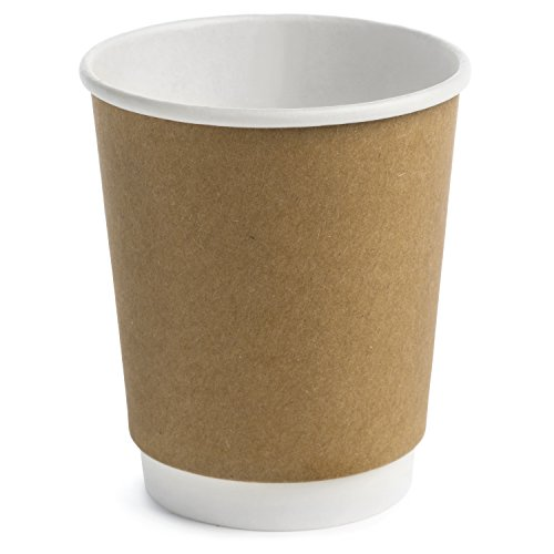 (Earth's Natural Alternative Double Wall Kraft Paper Coffee Cup 8 oz, Tan, 500 Count)