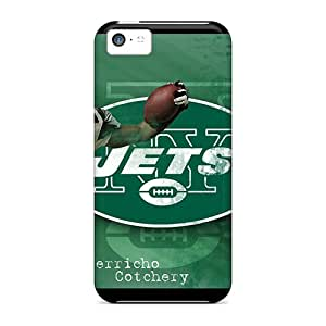 Durable Hard Phone Cases For Iphone 5c With Provide Private Custom Realistic New York Jets Image TimeaJoyce