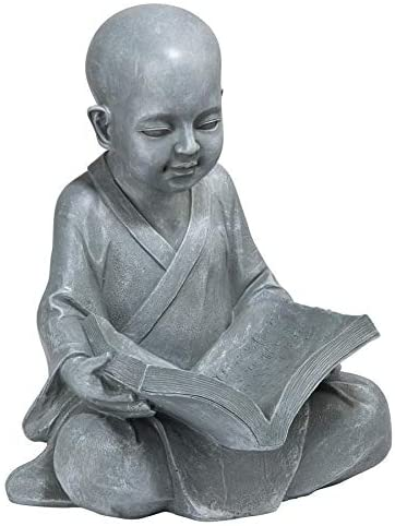 Design Toscano Baby Buddha Studying The Five Precepts Asian Decor Garden Statue 30 Cm Polyresin Greystone Amazon Ca Patio Lawn Garden