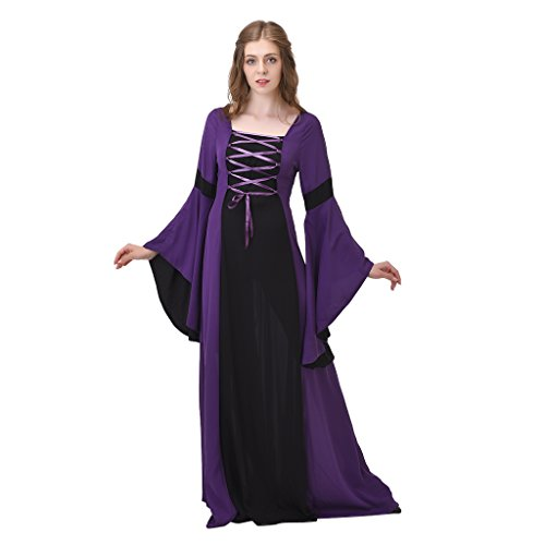 Medieval Dresses Cheap (1791's lady Medieval Renaissance Princess Hooded Gown Dress NQ0022-4-S)