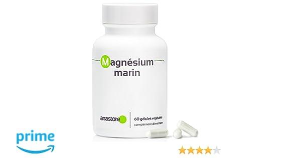 MAGNESIO MARINO * Contenido superior al 58.8 % en magnesio elemental * 300 mg / 60 cápsulas vegetales * Extracto puro de agua de mar * Para superar las ...