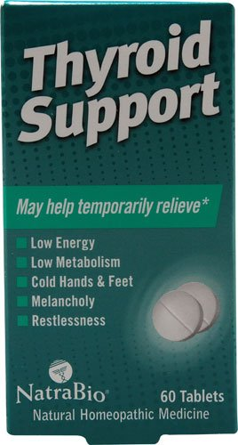 Tablets 60 Thyroid Support - NatraBio Homeopathic Thyroid Support -- 60 Tablets - 2 pc