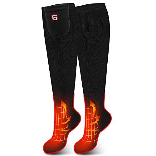 Daintymuse Battery Heated Socks,Men Women Electric Battery Powered Socks Kit,Rechargeable Battery Heating Stockings,Winter Thermo Socks,Climbing Hiking Fishing Foot Warmer Hunting Skiing Heated Socks