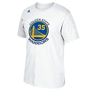 NBA Golden State Warriors Kevin Durant #35 Men's Replica Name & Number Short Sleeve Go-To Tee, XX-Large, White