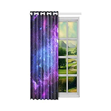 InterestPrint Colorful Outer Space Home Decor, Custom Universe Galaxy Nebula Cloud Window Curtain Drape Panels Treatment Polyester Home Decor 52 x 84 Inches(One Piece)