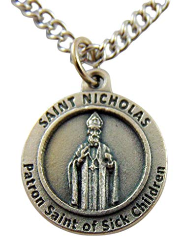 Westman Works St Nicholas Christmas Saint Medal with Stainless Steel Chain