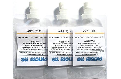 VEGETABLE GLYCERIN, PROPYLENE GLYCOL MIX/ Food Grade 39oz(13x3) 300ml (VG:PG)(70:30) MADE IN JAPAN