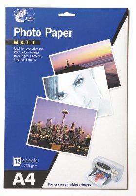 Buy@Home Photo Paper- All Sizes - Canvas Matt Gloss Inkjet Printer Great Qualiity 12 Sheets Matt A4