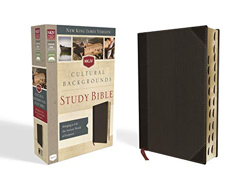 NKJV, Cultural Backgrounds Study Bible, Leathersoft, Brown, Indexed, Red Letter Edition: Bringing to Life the Ancient World of Scripture