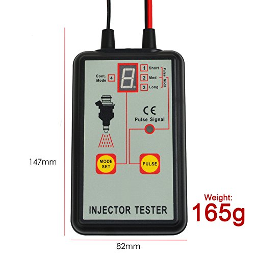 Automotive Fuel Injector Tester, 12V 4 Pulse Modes, Handheld Car Vehicle Fuel Pressure System Diagnostic Scan Testing Tool Gauge, Individual Test Stuck/Leaking/Burnt-out Problem by Gain Express (Image #5)